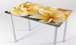 Стол стеклянный кухонный КТ 08