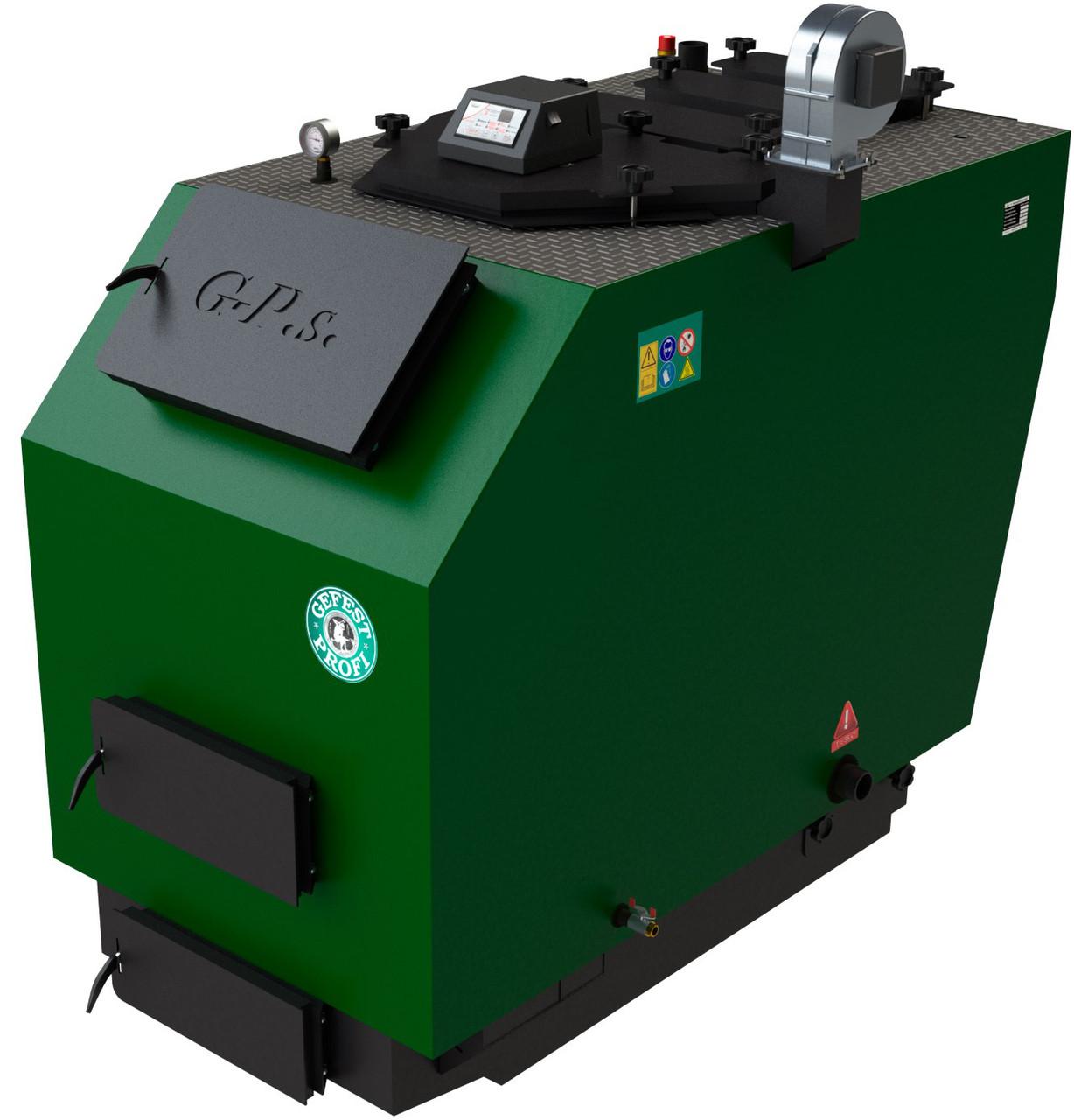 Промышленный пиролизный твердотопливный котел с газификацией древесины Gefest-Profi S 1150 (Гефест)