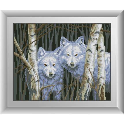 """30653 Набор алмазной живописи """"Белые волки"""", фото 2"""