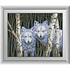 """30653 Набор алмазной живописи """"Белые волки"""""""