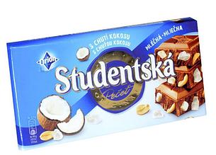 Шоколад Orion Studentska молочный с кокосом 180 г