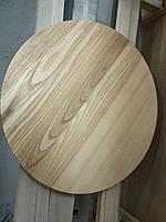 Столешница деревянная круглая ЯСЕНЬ масло/лак, 40мм, 1 сорт, доставка по Украине