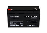 Свинцово-кислотный аккумулятор Battery LogicPower 6V, 12Ah