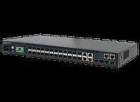 L2 коммутатор, 20 SFP портов 100 / 1000Base-F, 4 GE комбо SFP порты и 4x10G SFP + порта.