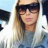 Женские солнцезащитные очки Celine коричневого цвета - чехол и салфетка в подарок
