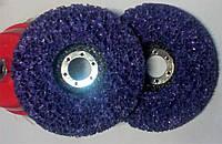 Водоросли диски зачистные на болгарку d125 мм фиолетовые STRIP and CLEAN, фото 1
