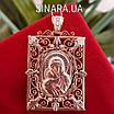 Золотая ладанка Божия матерь с младенцем - Иконка Богородица с младенцем золото 585, фото 4