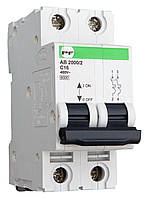 Модульний автоматичний вимикач Промфактор АВ2000 Standart 2Р, 1-63А, 6кА, С