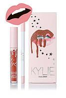 Матовая помада Kylie Lipstick & Lip Liner (набор помада и карандаш) One Wish (реплика)