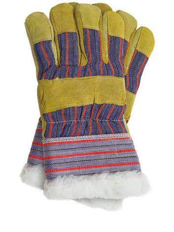 Перчатки рабочие теплые замшевые RSO (Reis), фото 2
