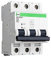 Модульний автоматичний вимикач Промфактор АВ2000 Standart 3Р, 1-63А, 6кА, С
