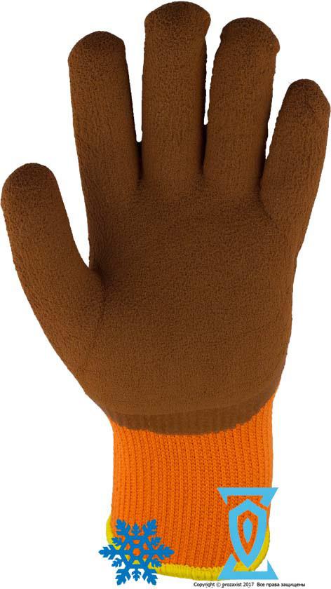 Рукавички робочі теплі покриті спіненим латексом #300
