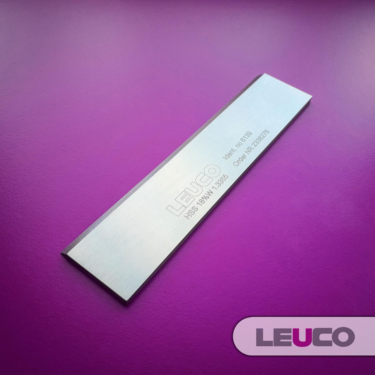 Строгальные (фуговальные) HSS 18% ножи Leuco для фуганков и рейсмусов 130х30x3