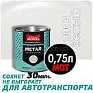 Дніпровська Вагонка Швидковисихаюча МЕТАЛ № 9003 Біла МАТ 20лт, фото 4
