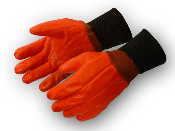 Перчатки рабочие теплые бензомаслостойкие Пламя, фото 2