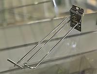 Крючок подвійний з цінникотримачсем хром. в економпанель 20 см