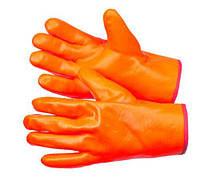 Перчатки рабочие теплые бензомаслостойкие Пламя 30 см
