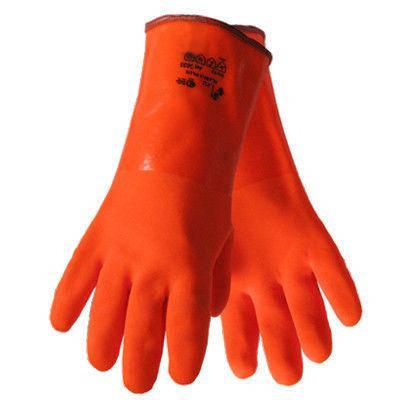 Перчатки рабочие теплые бензомаслостойкие Пламя 35 см, фото 2