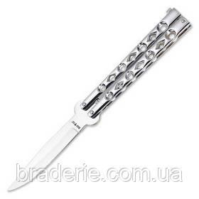 Нож-бабочка 320 white