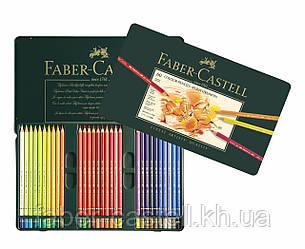 Карандаши художественные цветные Faber-Castell POLYCHROMOS 60 цветов в металлической коробке, 110060