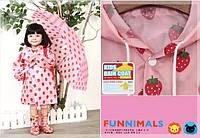 Дождевик детский Розовая клубничка  . Размер M, фото 1