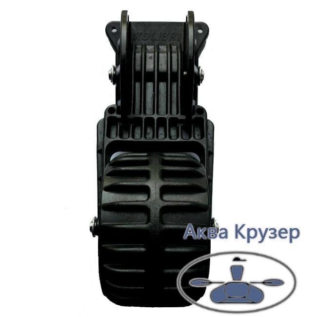 Транцевые колеса Колибри (пластиковые, черные) для надувных лодок ПВХ