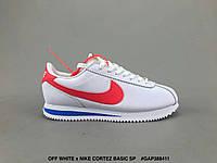 Кроссовки Nike Cortez х Off White найк мужские женские реплика, фото 1