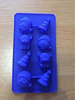 Форма силиконовая Лед -конфеты Новый год 8шт.