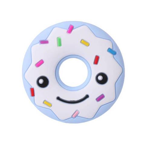 Пончик ( голубой/белый верх), силиконовый прорезыватель для зубов