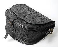 Кожаная сумка, черная сумочка, сумка через плечо