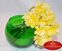 Ваза цветная шар 100 х 120 мм цвет зеленый, фото 1