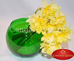 Ваза цветная шар 100 х 120 мм цвет зеленый