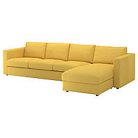 IKEA VIMLE 4-местный диван, с шезлонгом, Orrsta золотисто-желтый  (092.070.77)