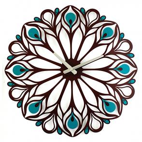 Оригинальные Настенные часы Peacock Feather. Акция: бесплатная доставка!, фото 2