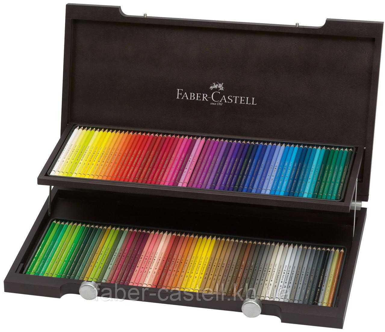 Карандаши художественные цветные 120 цв. в деревянном пенале Faber-Castell POLYCHROMOS®, 110013