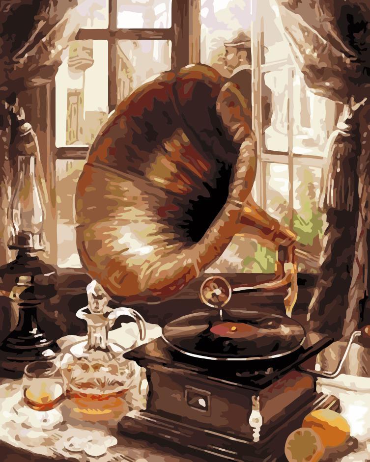 Картина по номерам Старый граммофон ArtStory AS0202 40 х 50 см