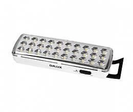 Аварийный светодиодный светильник DELUX REL-501 (3.7V1,2Ah) 30 LED 2W