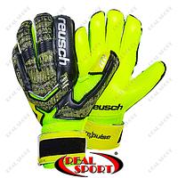 Перчатки вратарские с защитными вставками на пальцы FB-882-1 Reusch (PVC, р-р 8-10, черный-салатовый)