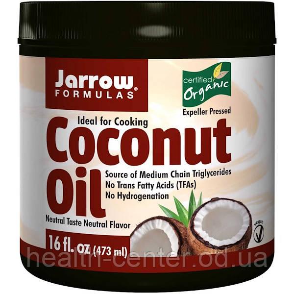 Сертифицированное Органическое кокосовое масло (раф.) 473 г Филиппины для Jarrow Formulas USA