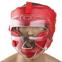 Шлем красный с прозрачной маской Ever M