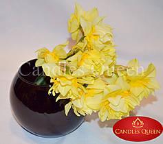 Ваза черная стеклянная ваза шар 100 х 120 мм цвет черный глянец непрозрачный