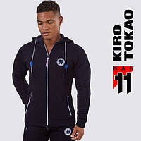 Kiro Tokao 183 | Мужская толстовка спортивная черный-синий