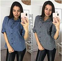 Женская красивая рубашка в клетку (2 цвета)