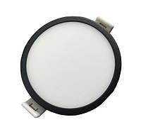 Круглый потолочный светильник SLIM RIGHT HAUSEN HN-234012 6W 4000K черный Код.57895