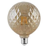 Светодиодная лампа Эдисона Filament VINTAGE TWIST-6 6W D125 Е27 2200K (мат.золото) Код.58960