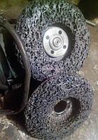 Зачистные круги коралловые абразивные щетки на болгарку d125 мм черные STRIPPING and CLEANINING