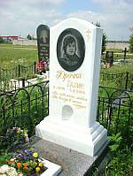 Памятник из белого мрамора 10