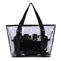 Пляжная сумка  прозрачная с клатчем в наборе