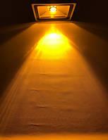Светодиодный линзованый прожектор SL-10Lens 10W желтый IP65 Код.59106