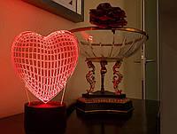 """Детский ночник - светильник """"Сердце"""" 3DTOYSLAMP, фото 1"""